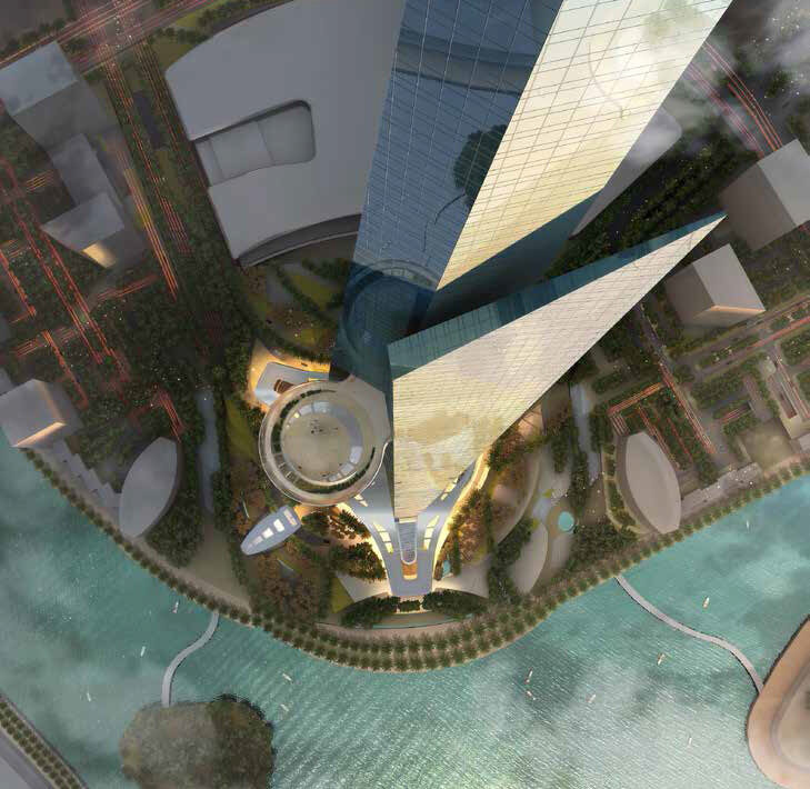 3D view of the Jeddah Tower.